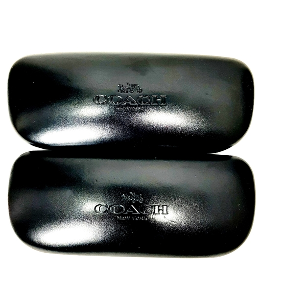 Set of 2 - Coach black clamshell glasses cases